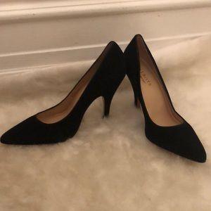 Talbots black leather heels 8